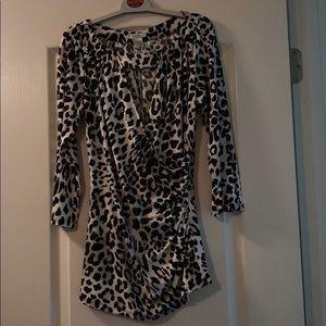 Cache Leopard Print Top Never Worn